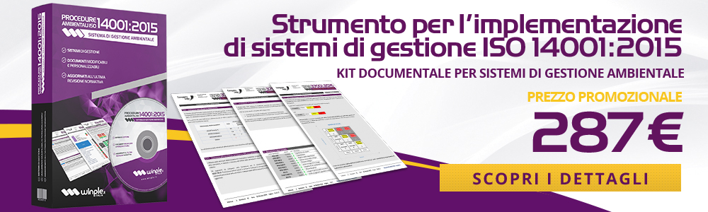 Kit Documentale Procedure ISO 14001:2015